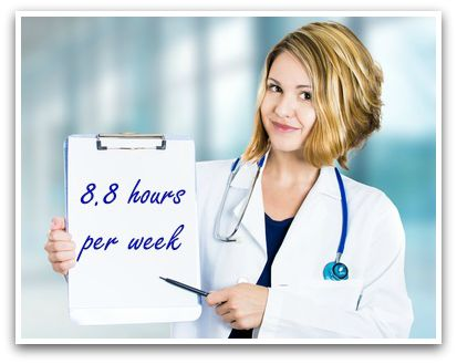 Researchers recommend 8.8 hours per week.
